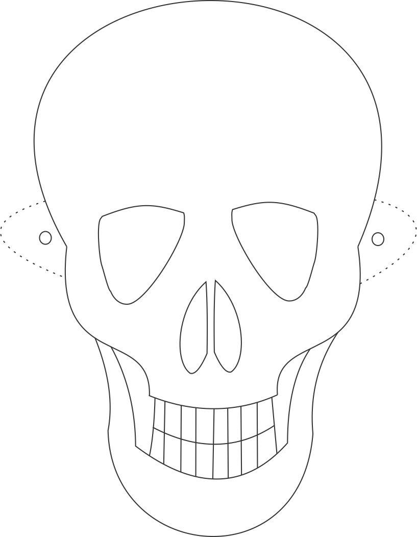Skull mask coloring pages only coloring pages for Coloring pages masks