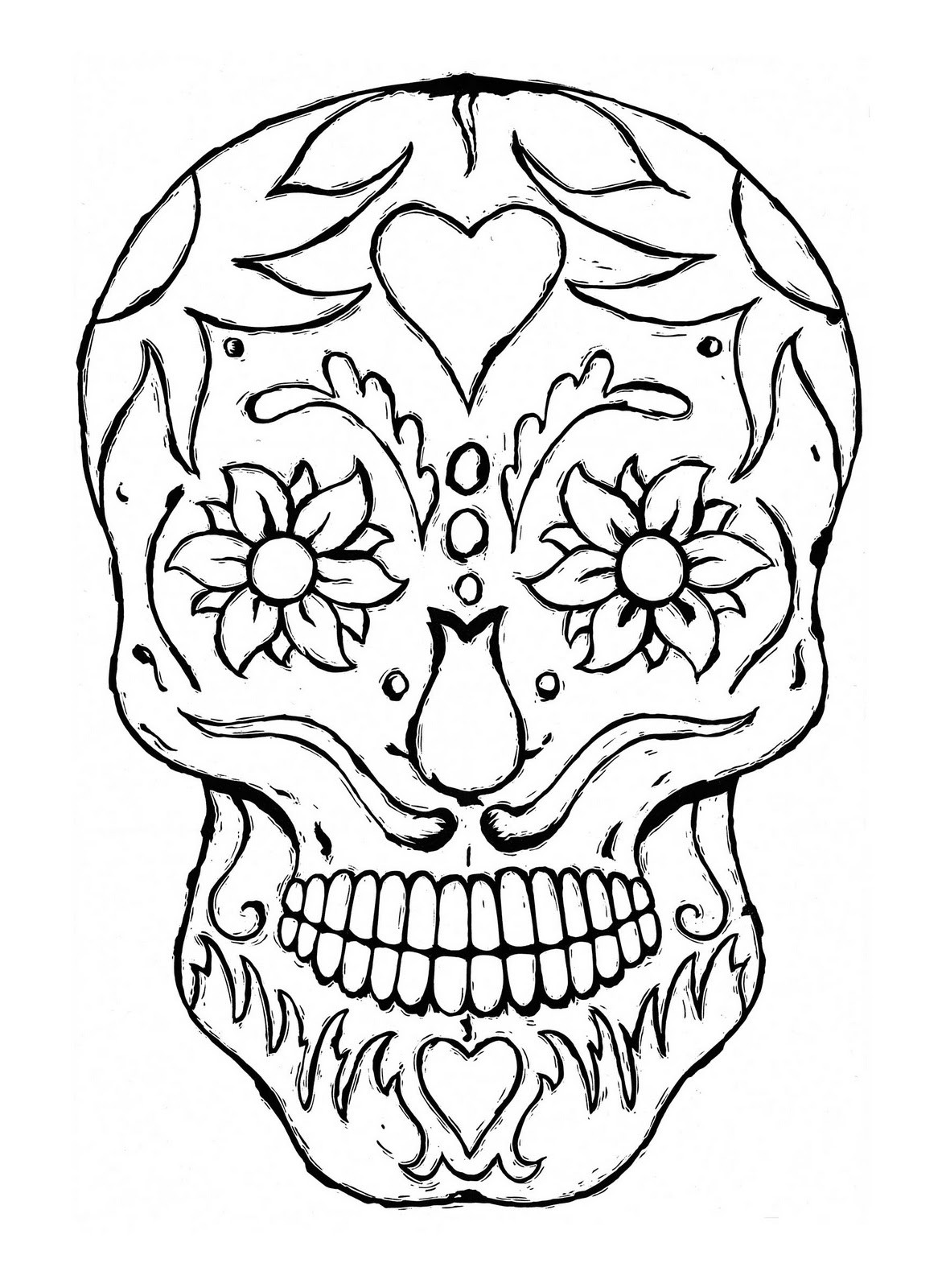 skull mask coloring pages Only