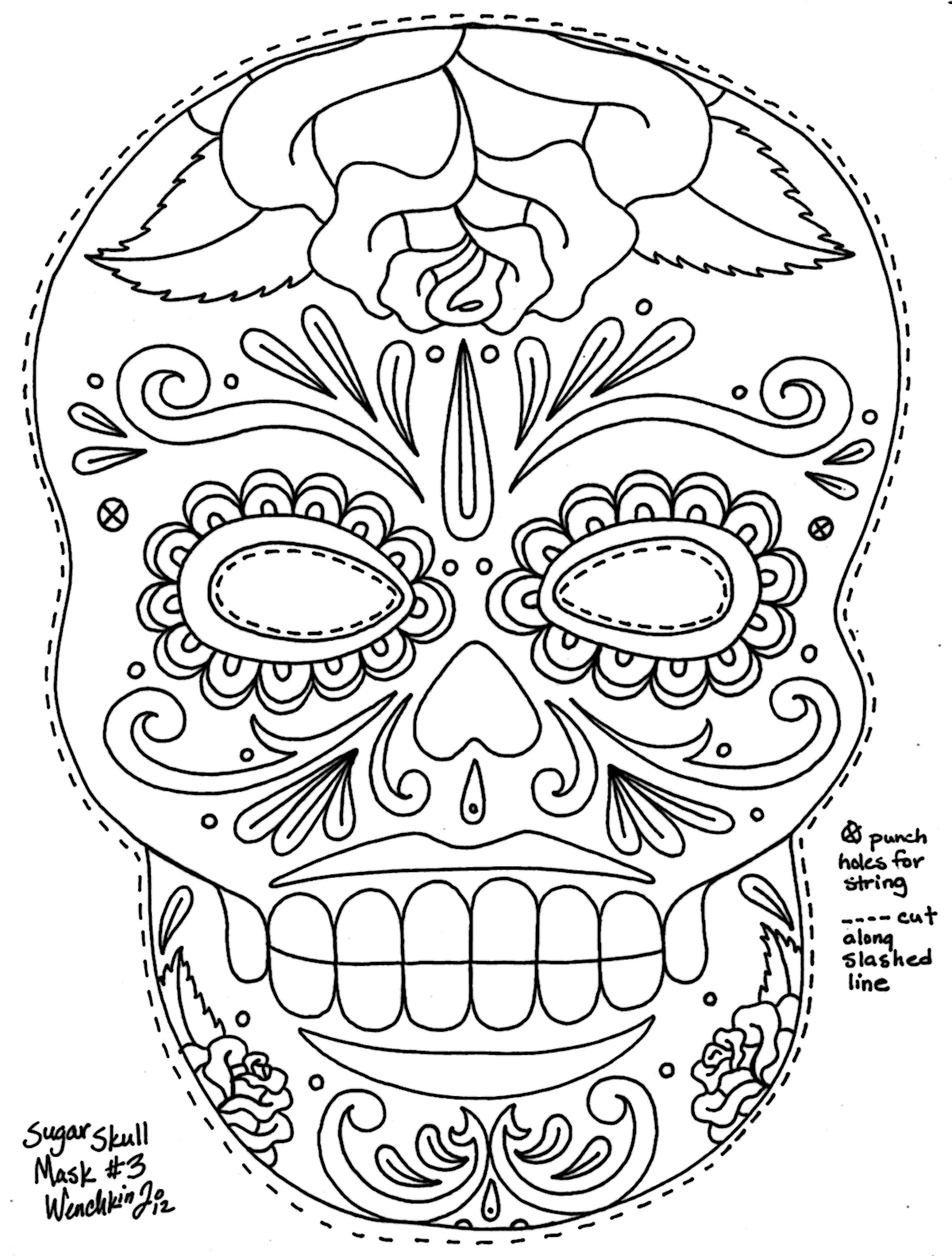 the mask coloring pages - skull mask coloring pages only coloring pages