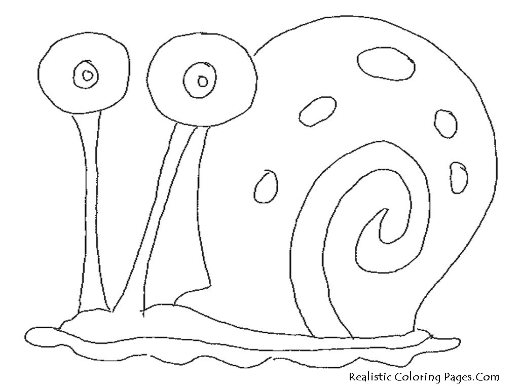 spongebob and gary coloring page 02
