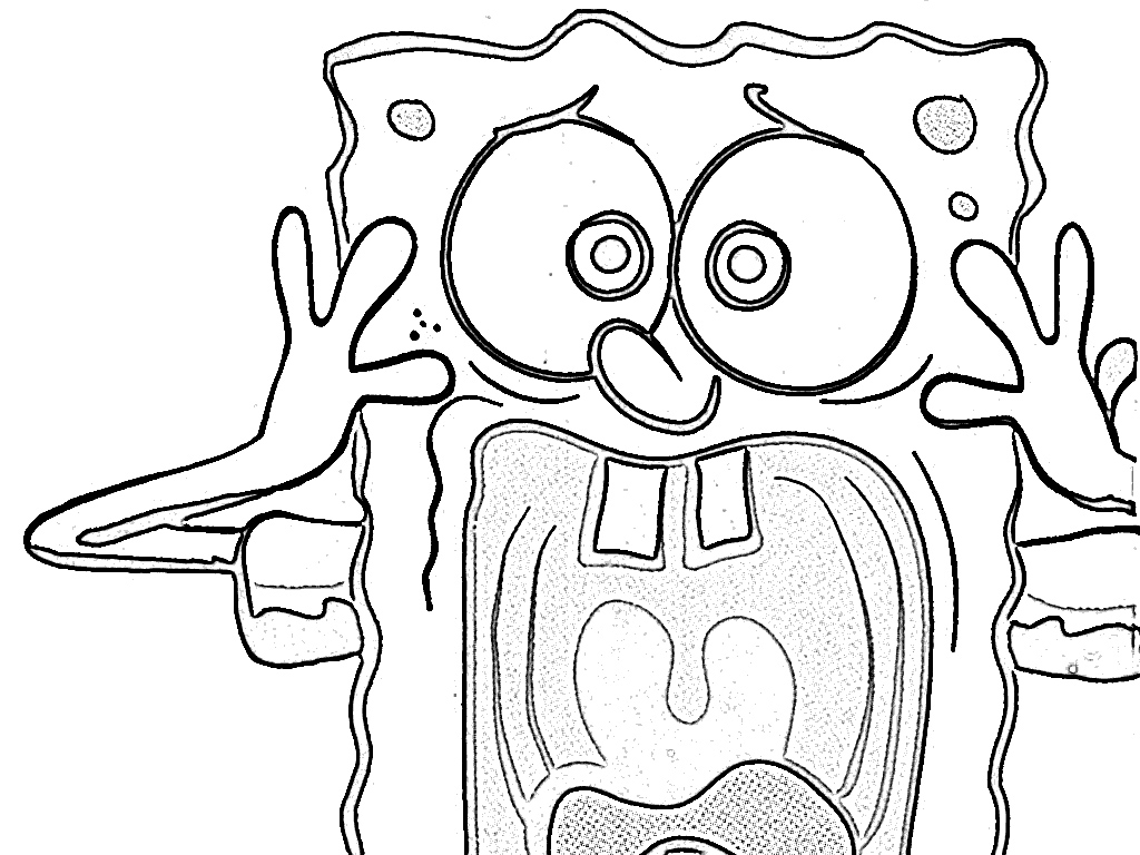 spongebob and gary coloring pages - photo#26