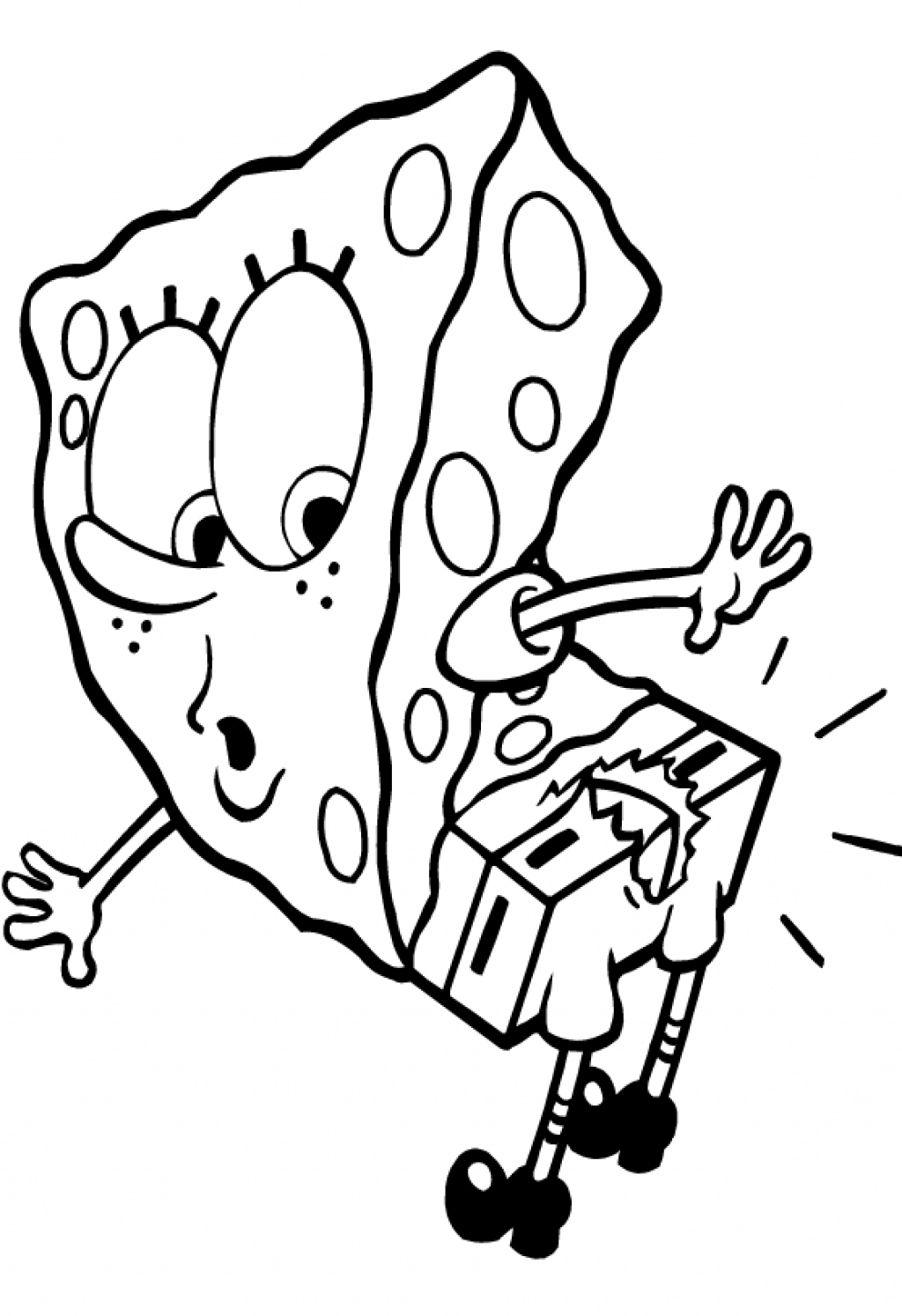 Spongebob and gary coloring page only coloring pages for Spongebob free coloring pages