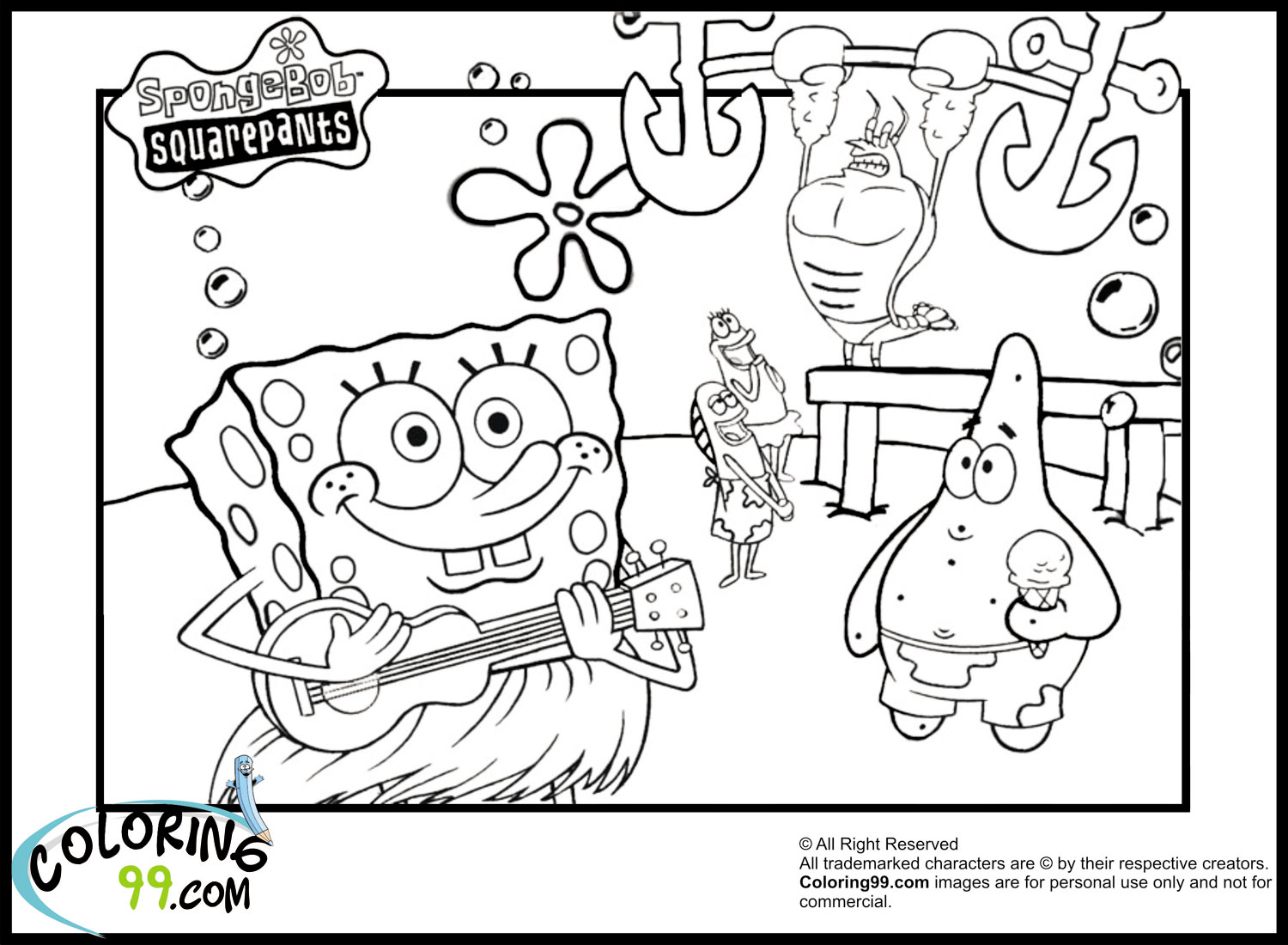free printable spongebob coloring pages google twit - Spongebob Coloring Pages Boys