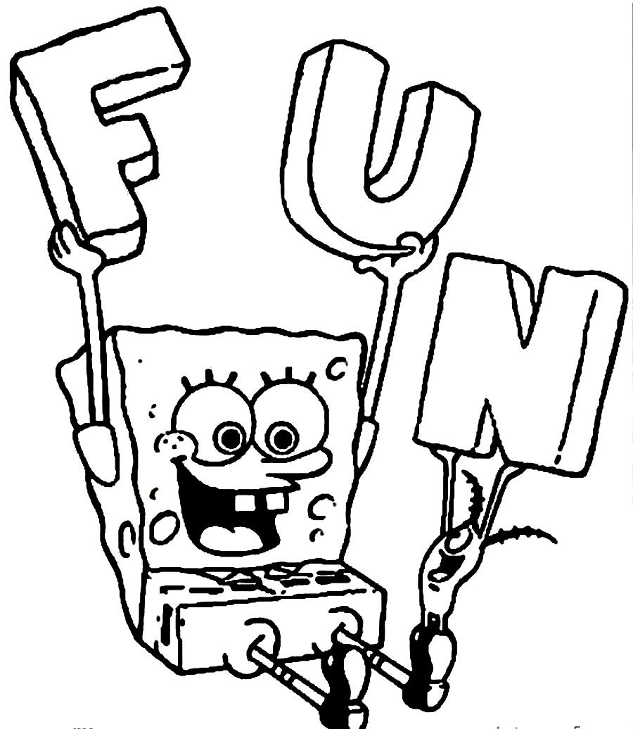 spongebob coloring pages coloring page fun coloring pages for 10 year olds - Fun Colouring Sheets