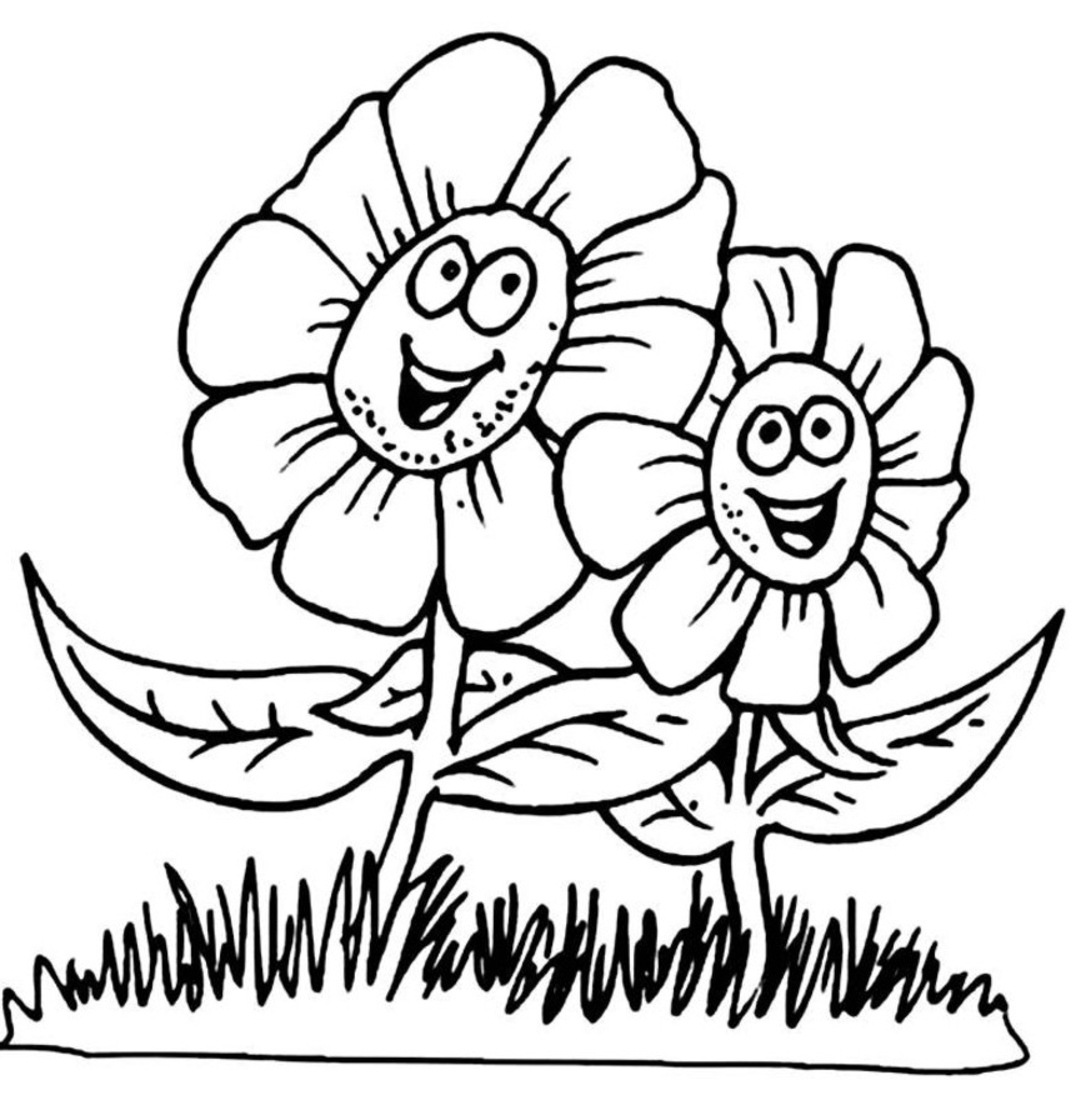 Spring Coloring Pages 01
