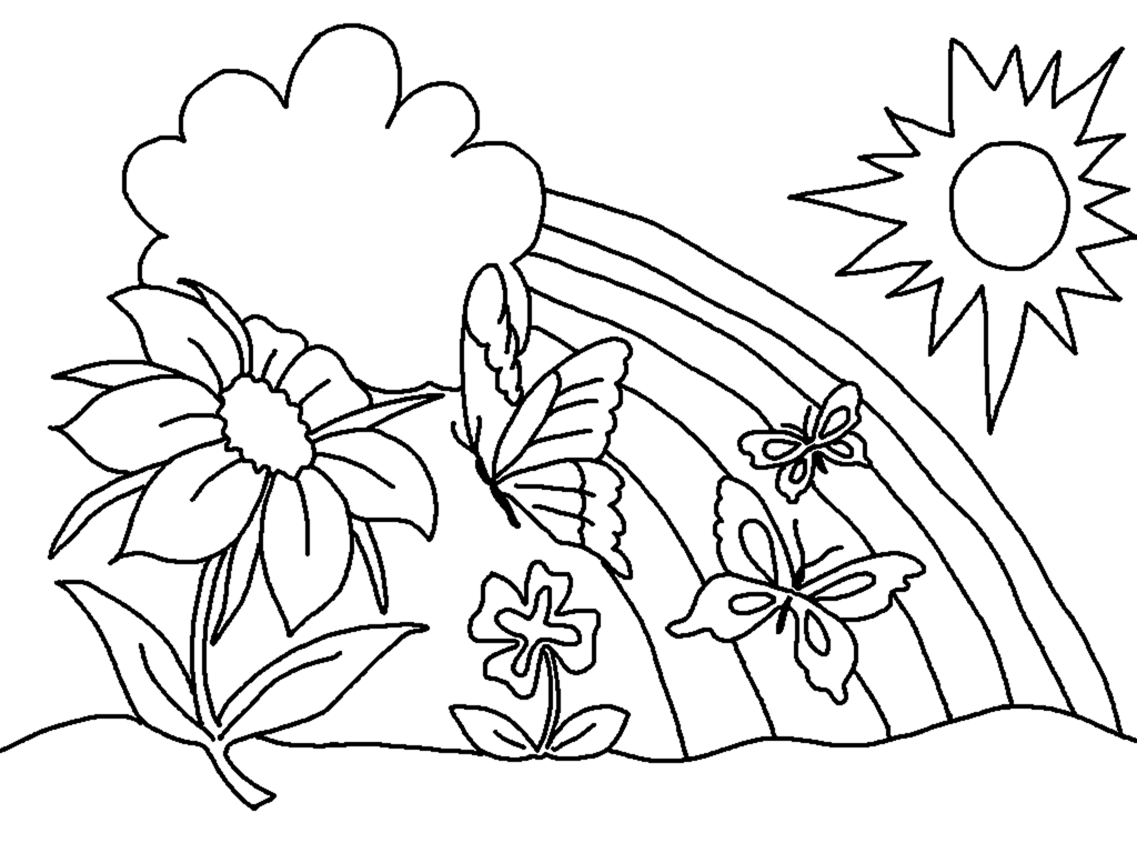 printable coloring pages for sping - photo#8
