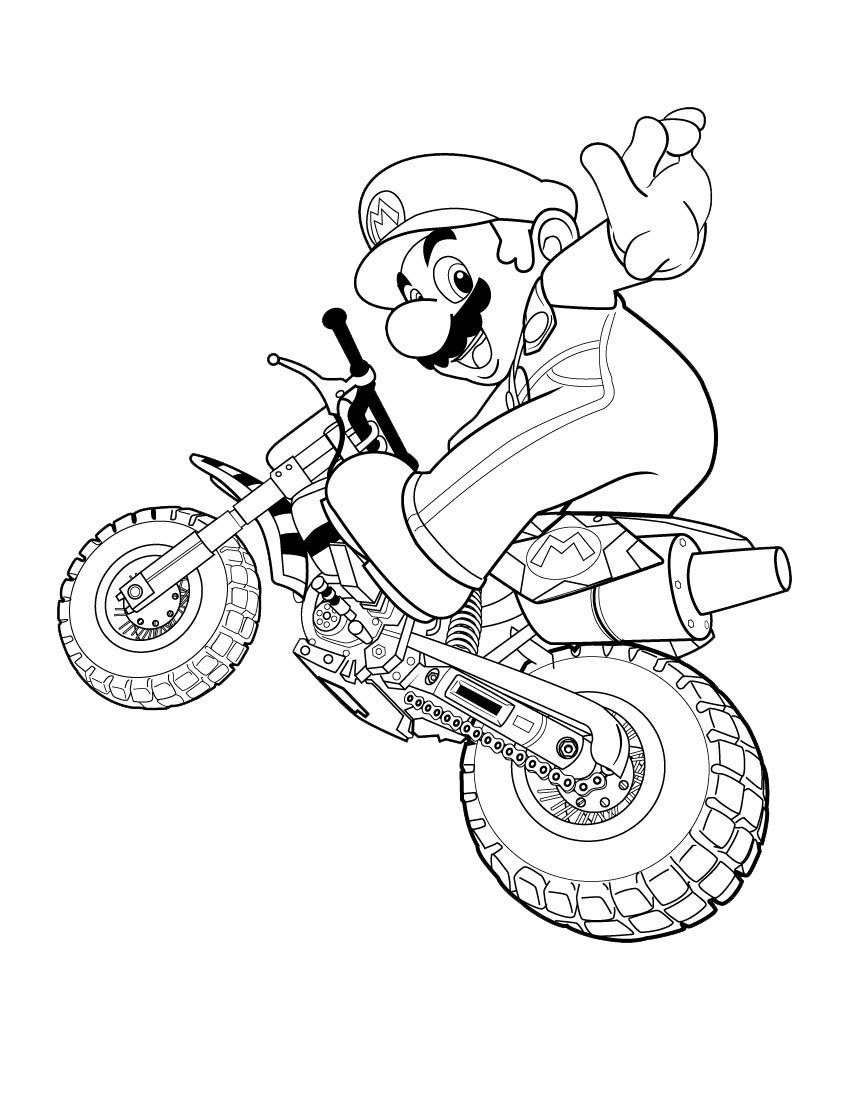 super mario coloring pages free printable online super mario