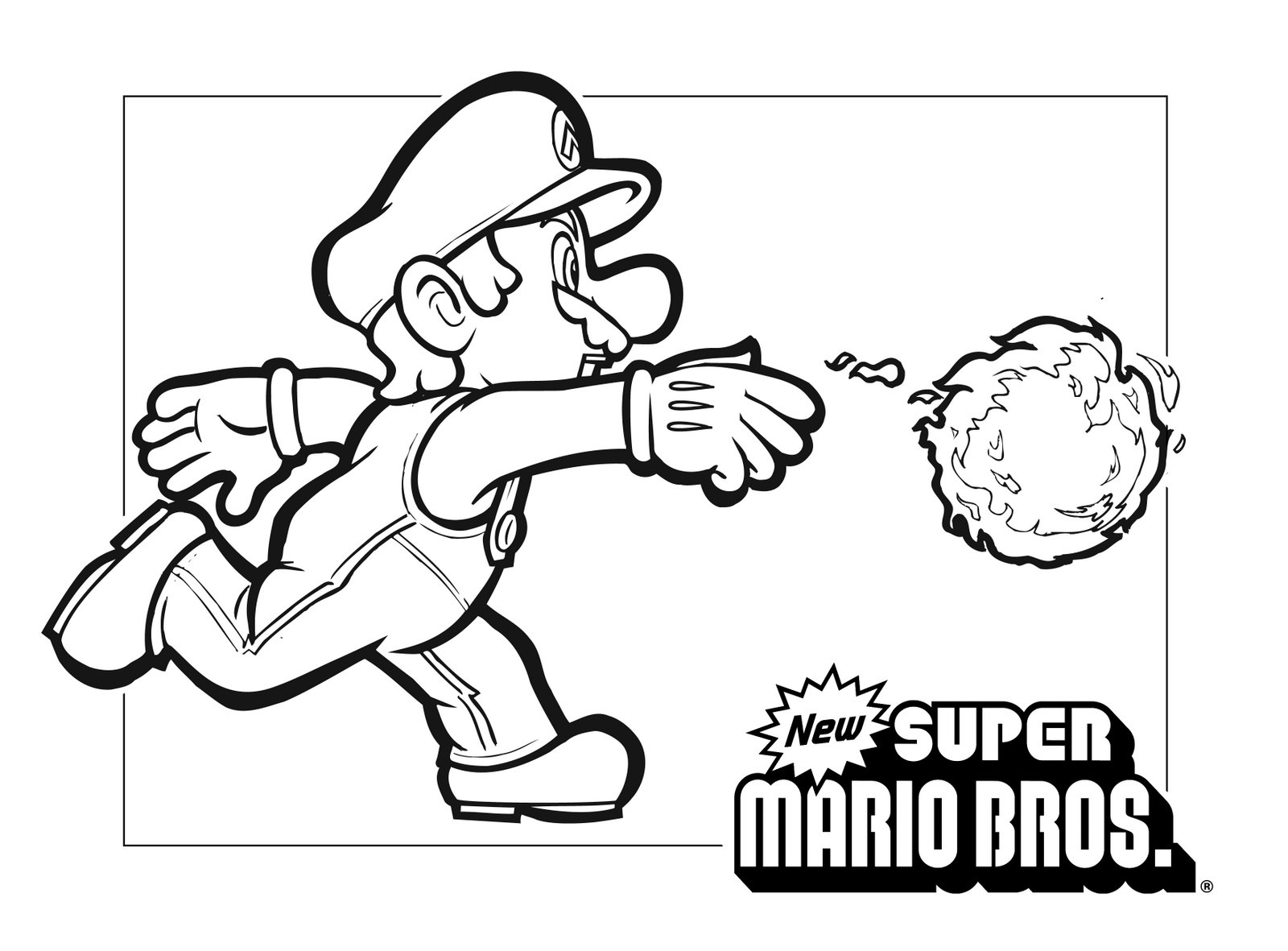 mario luigi coloring pages - super mario coloring pages only coloring pages
