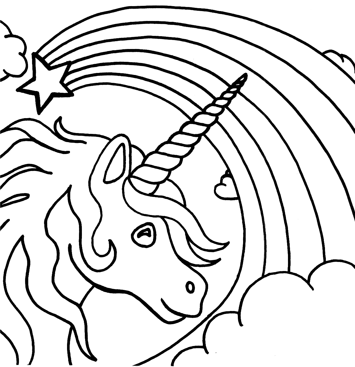 rainbow unicorn coloring pages unicorn rainbow coloring pages only coloring pages