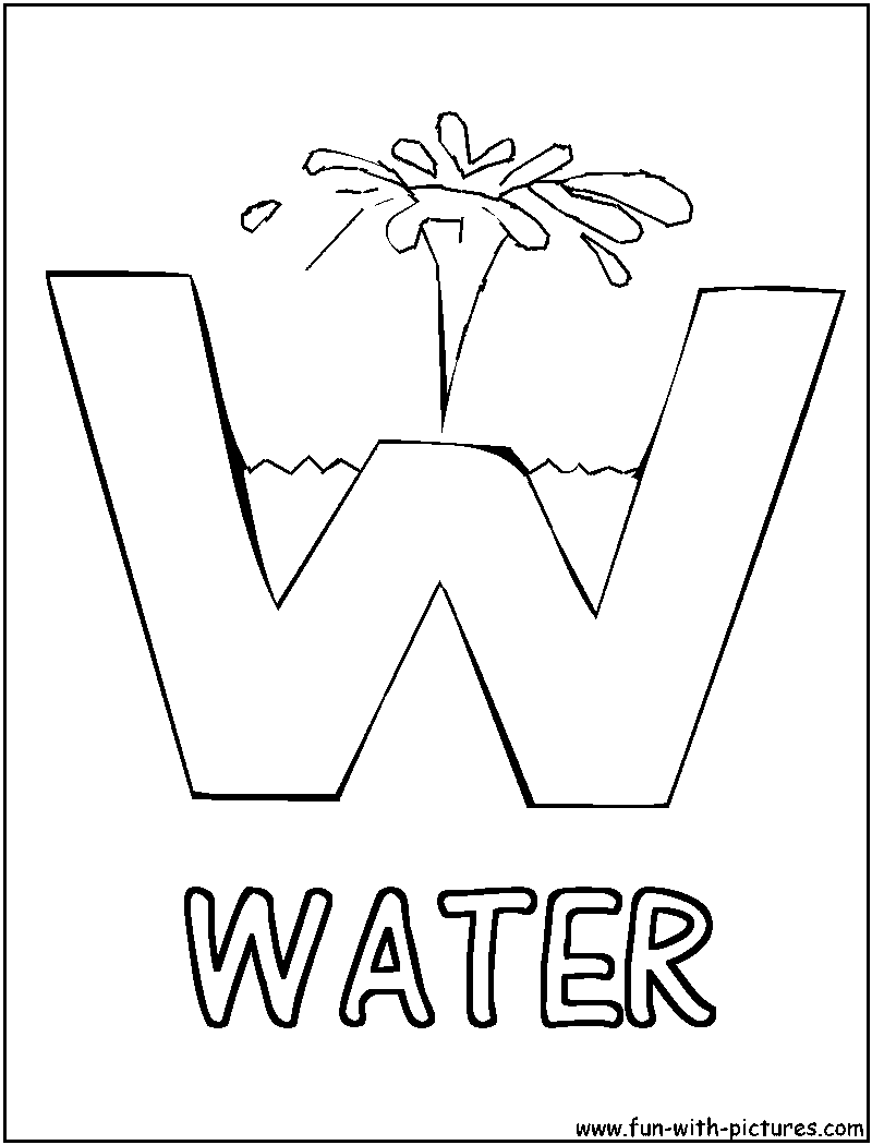 Free day of water coloring pages