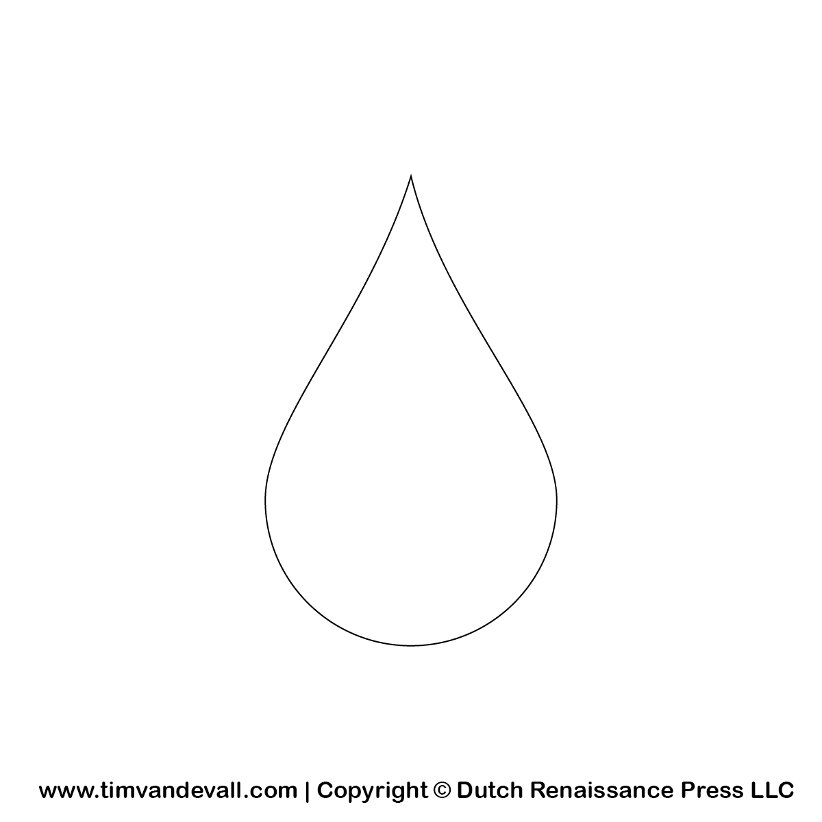 Water Drop Coloring Only Pages