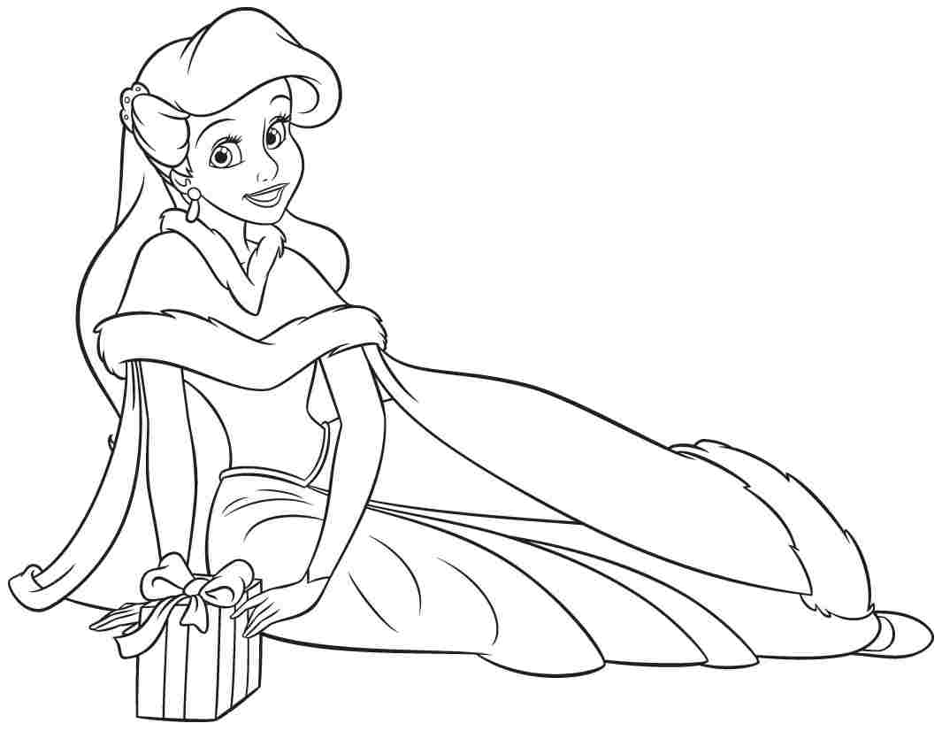 Princess Ariel Adorning Oneself Coloring Pages Is Part Of