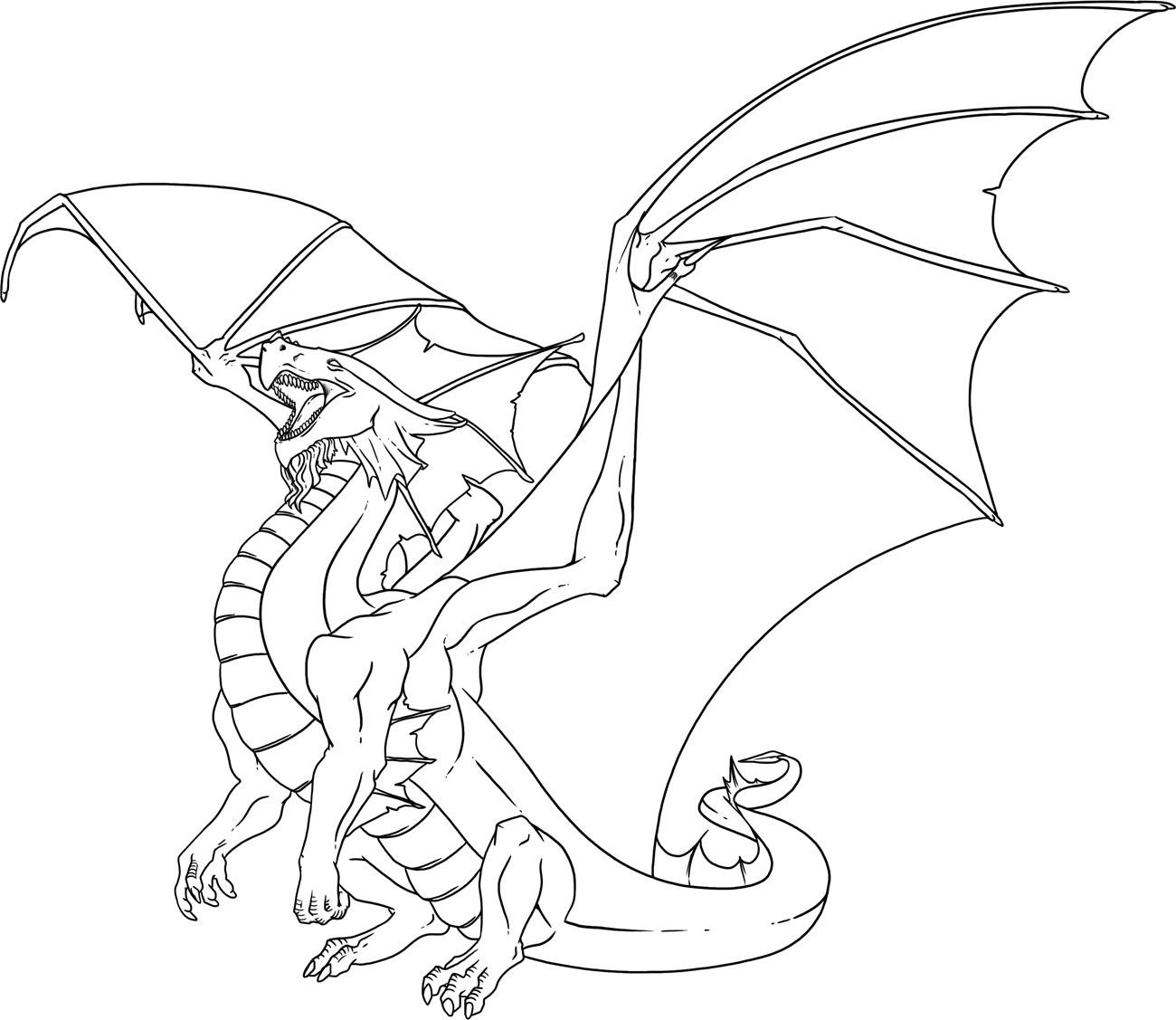 dragon coloring pages printable | Only Coloring Pages