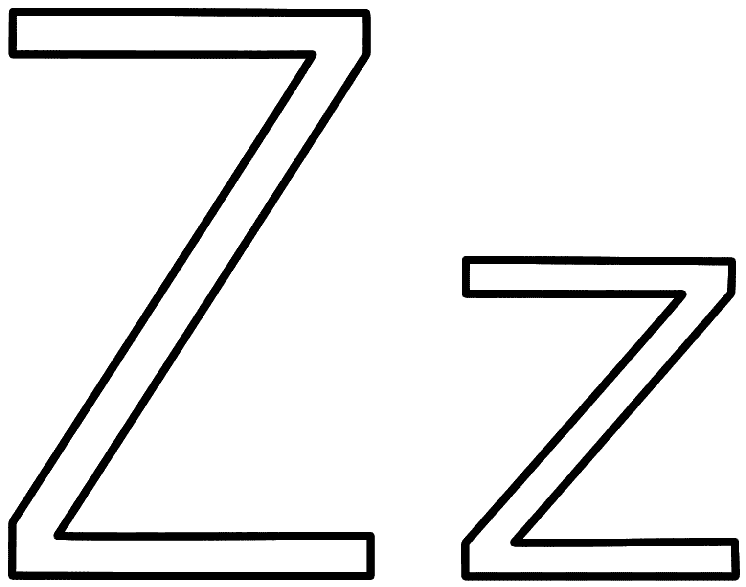 Letter Z Coloring Pages 01