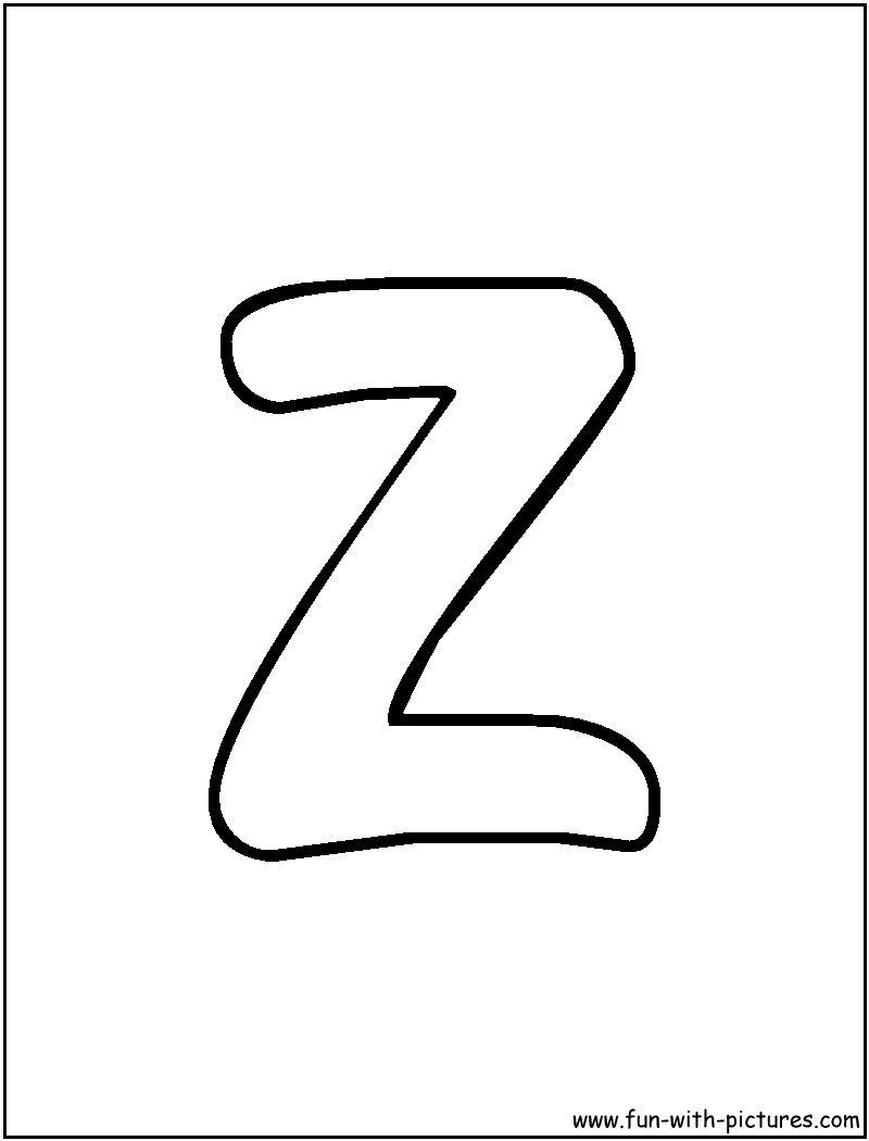 Letter z coloring pages only coloring pages for Coloring pages a to z