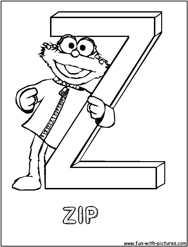 z word coloring pages - photo #27