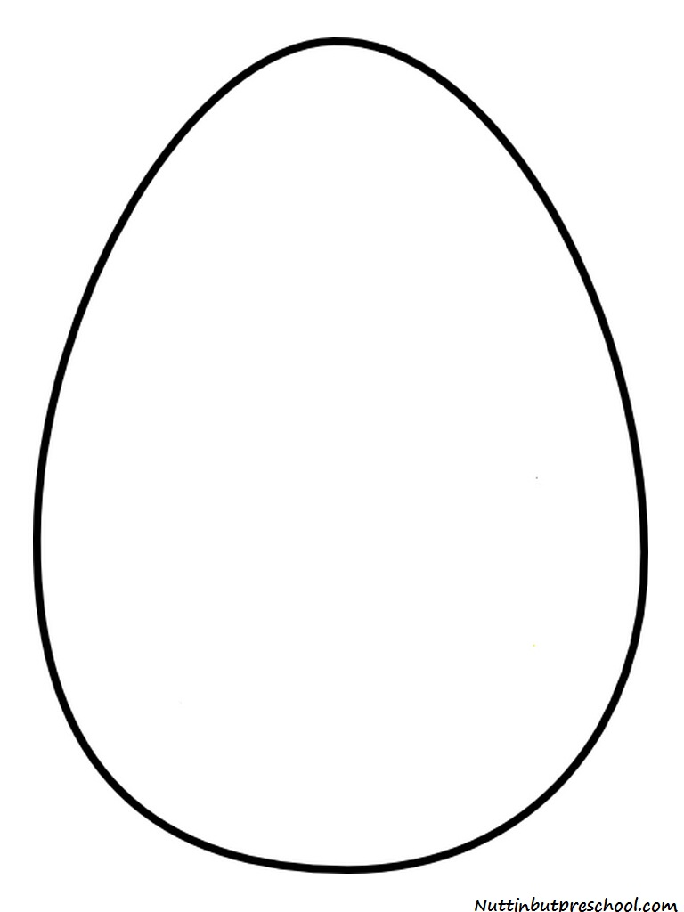 Pics Photos Plain Easter Eggs Coloring Pages
