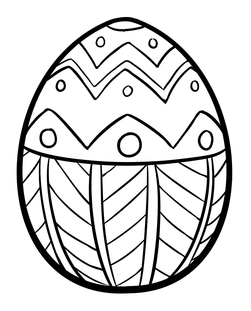 Free Coloring Pages Of Plain Easter Egg