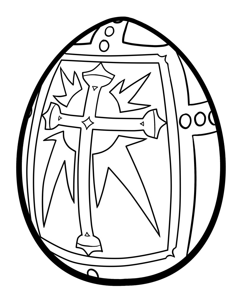 Plain Easter Egg Coloring Pages Download