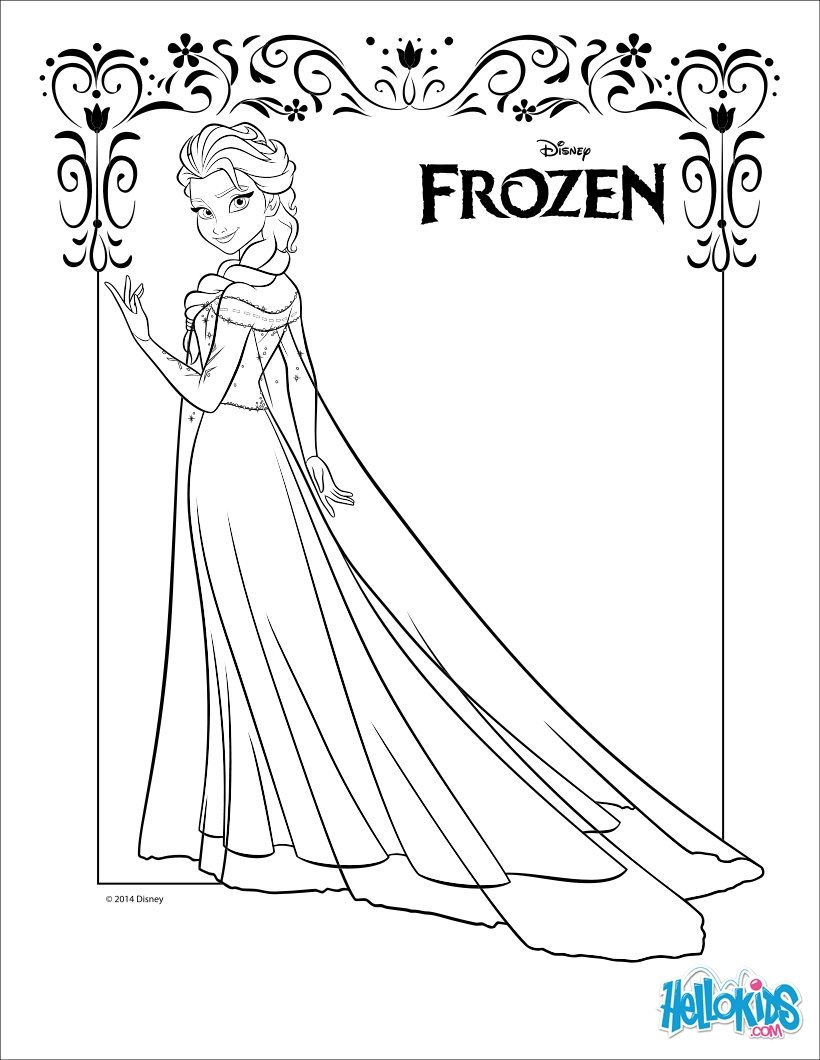Princess Coloring Frozen Free Pages Disney