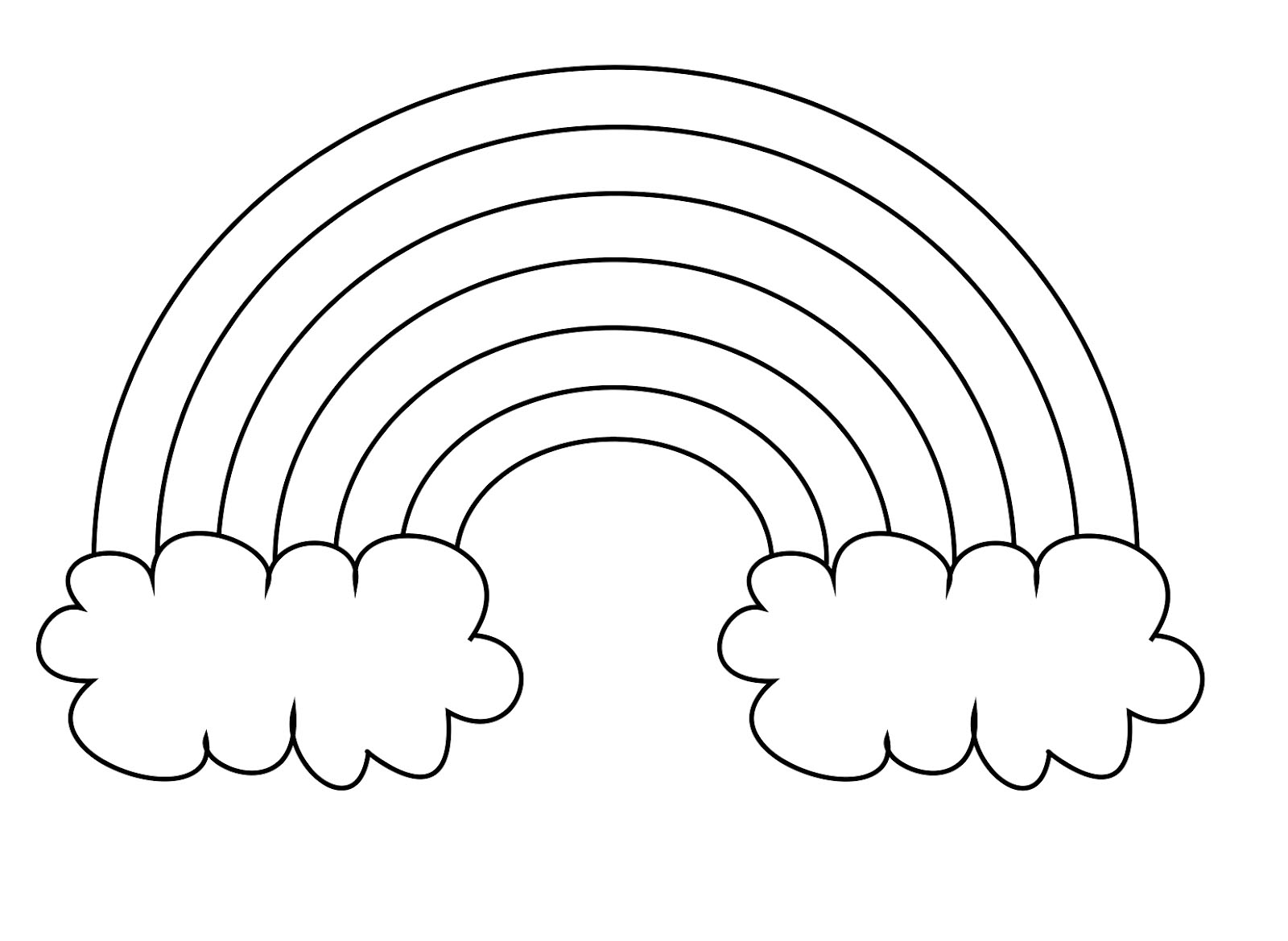 rainbow coloring pages for kid - photo#15