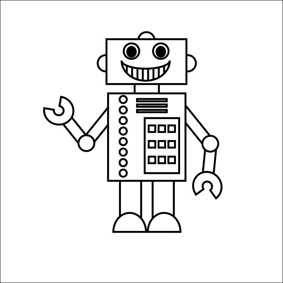 robot coloring pages 01