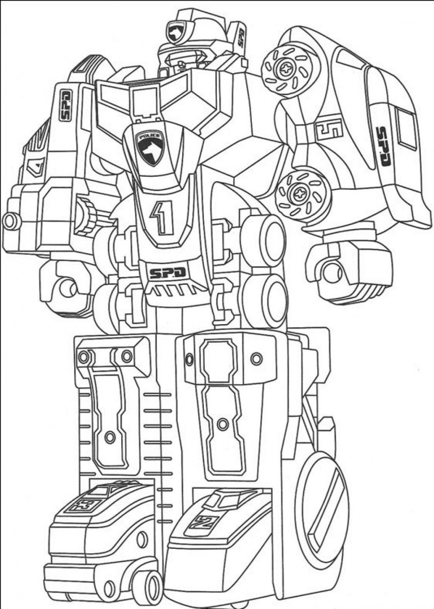 Barbie Coloring Pages Power Rangers : Robot coloring pages only
