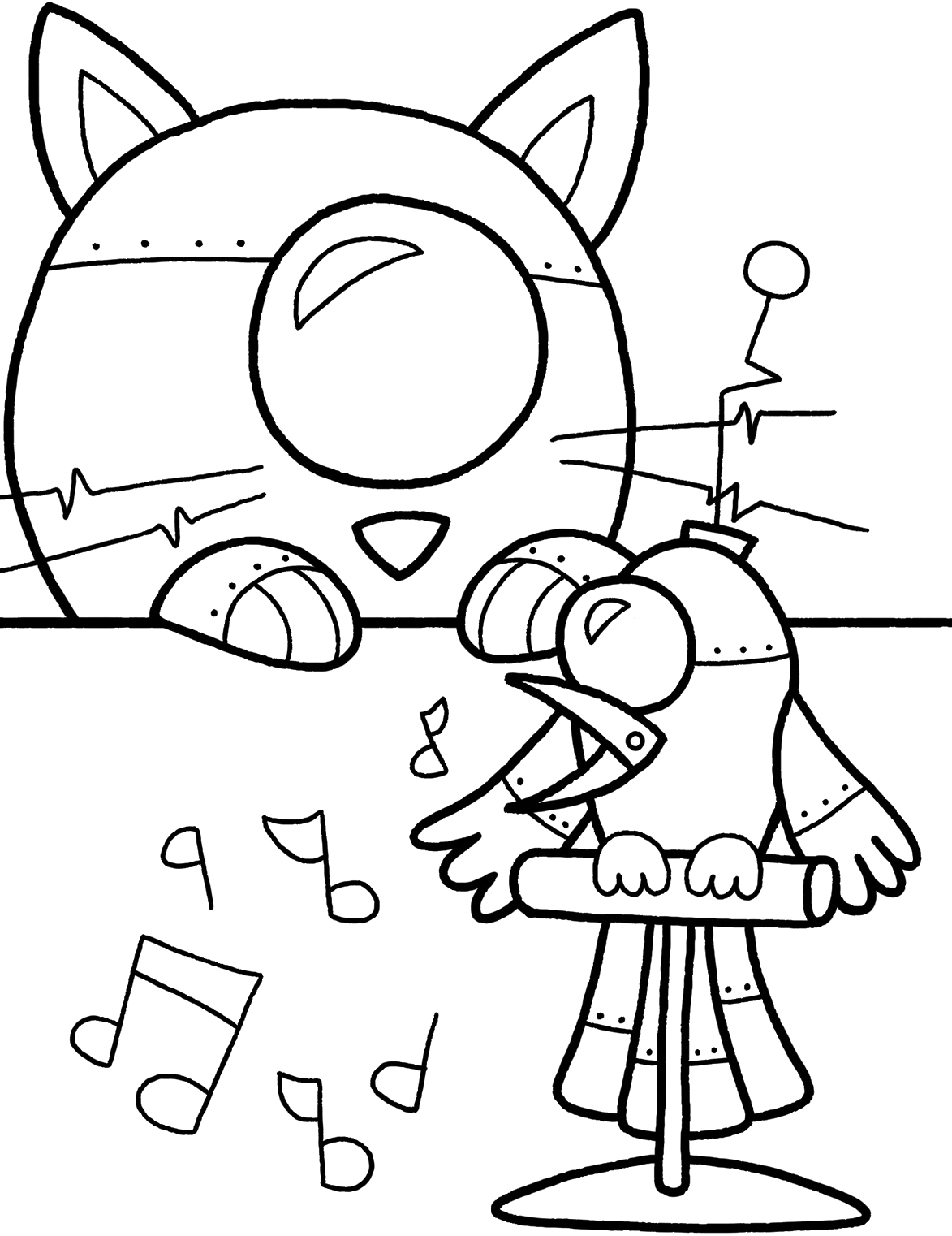 Robot coloring pages only coloring pages for Printable robot coloring pages