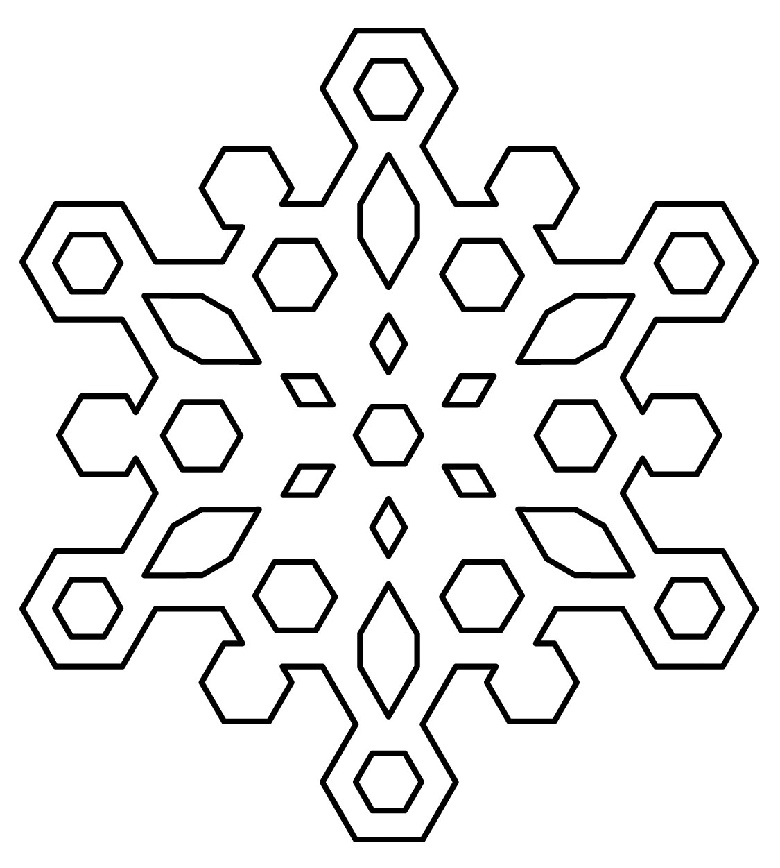 Snowflake Coloring Pages 01