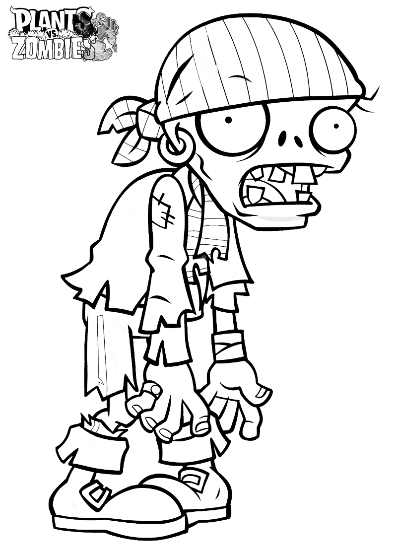 Zombie Coloring Pages 01
