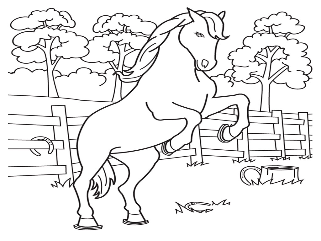 cute horse colouring pages
