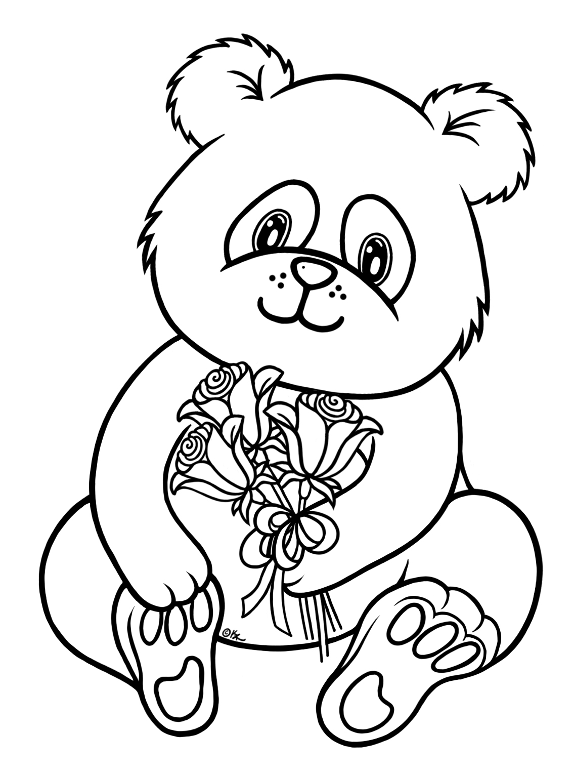 Free Coloring Pages Of A Baby Panda Panda Coloring Page