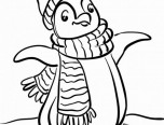 cute baby penguin coloring pages