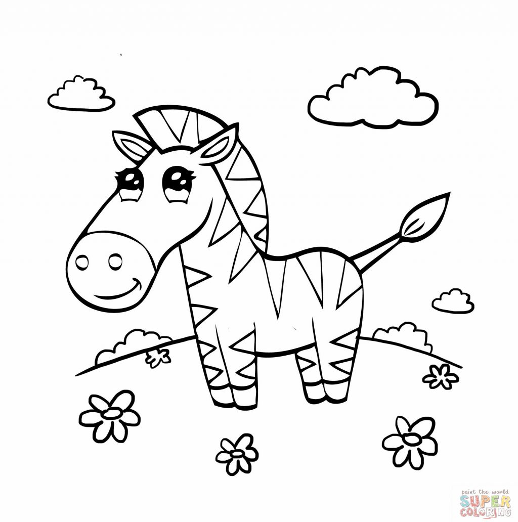 Cute baby zebra coloring pages only coloring pages Coloring book zebra