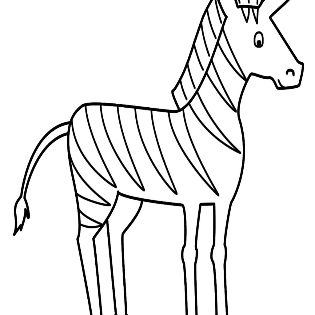 baby zebra coloring pages - photo#13