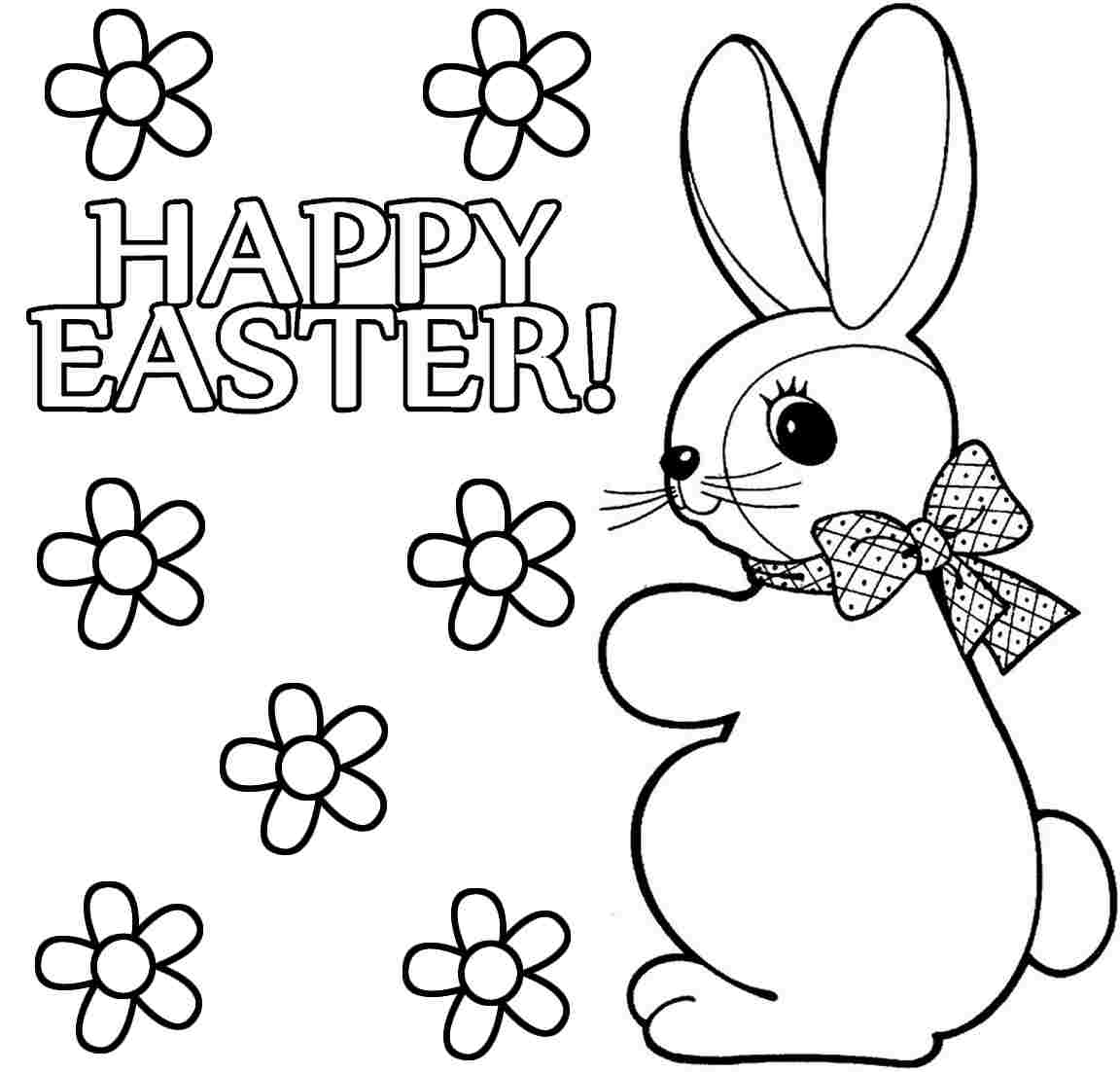 Bunny Coloring Printables On Pages Of Easter Eggs Egg