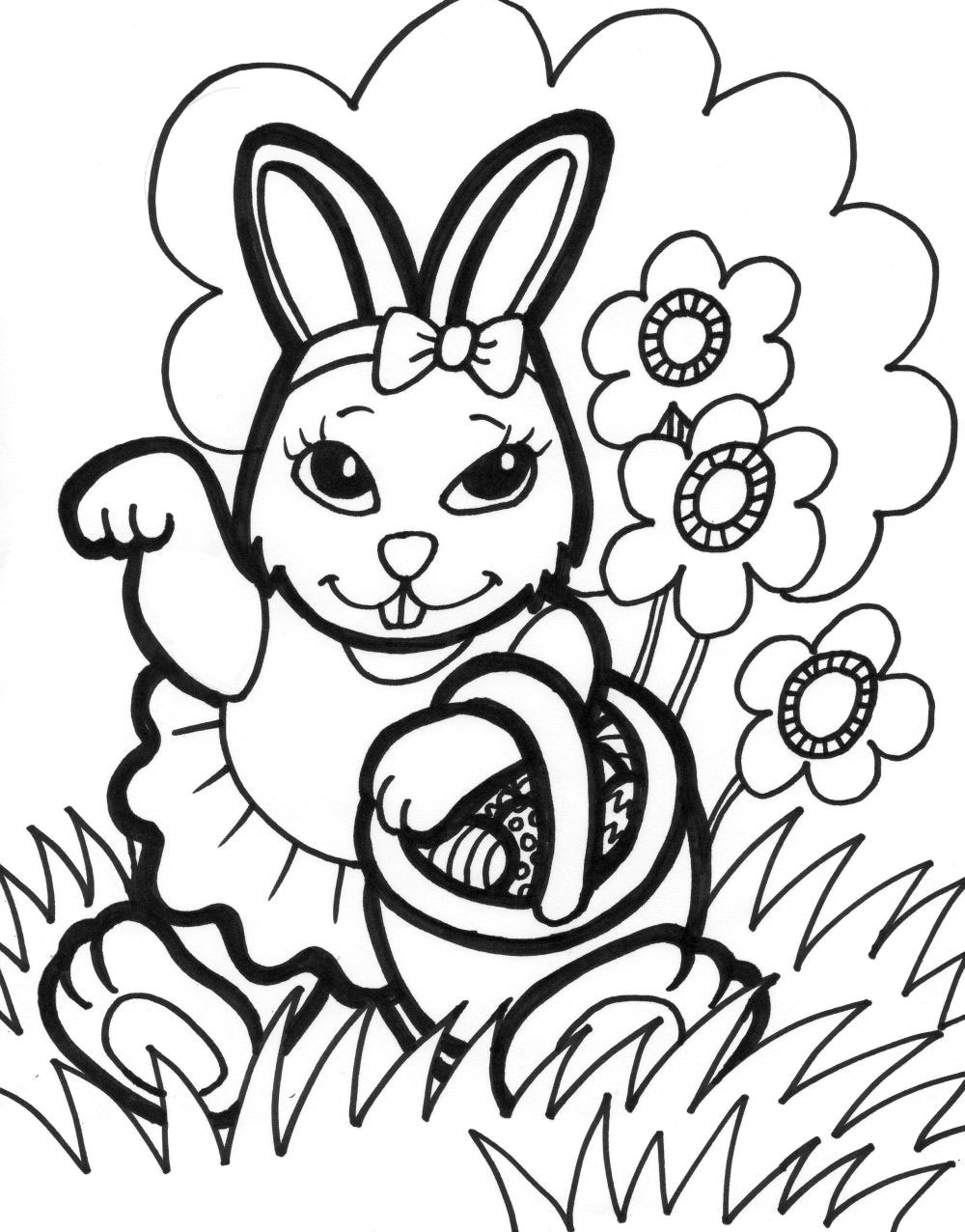 easter bunny coloring pages 01