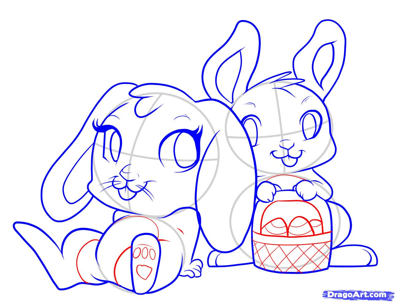 Easter bunny drawing printable easter bunny drawing free easter