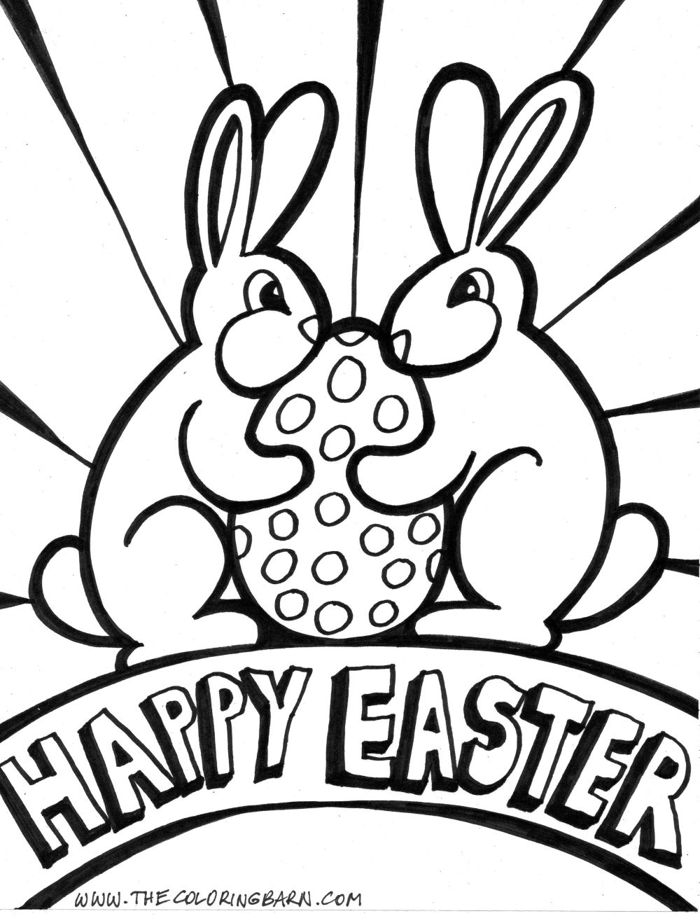 Childrens easter coloring pages - Easter Coloring Page 04 Jpg
