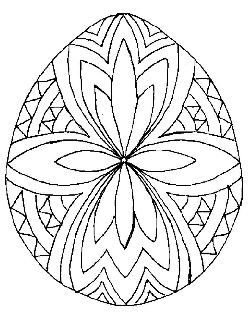 easter egg coloring sheets printable