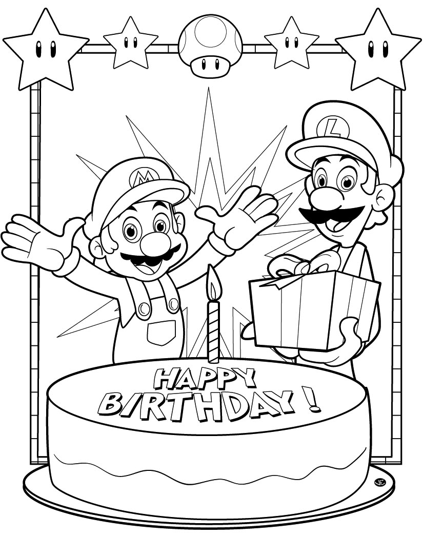 coloring pages brithday - photo#13