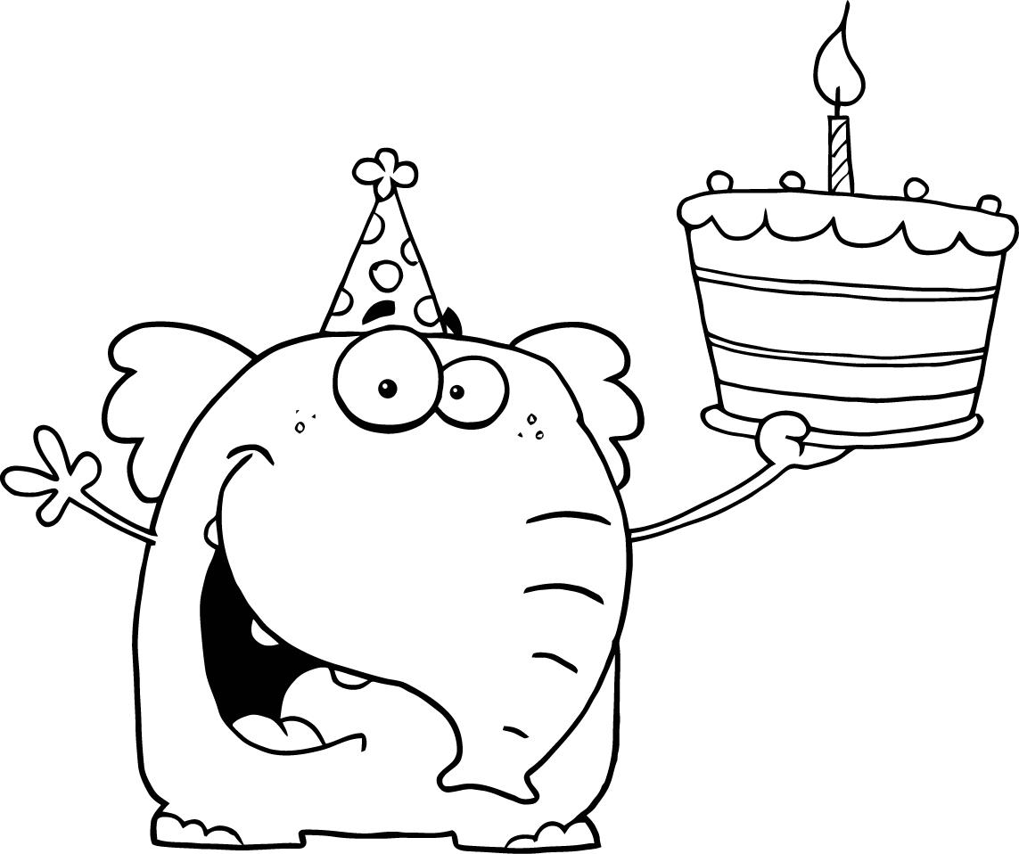 Happy birthday coloring pages only coloring pages for Birthday coloring page