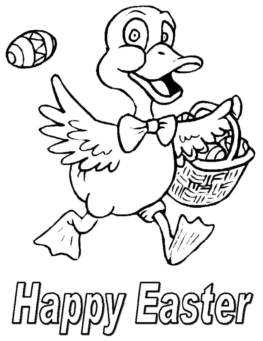 happy easter coloring pages 01