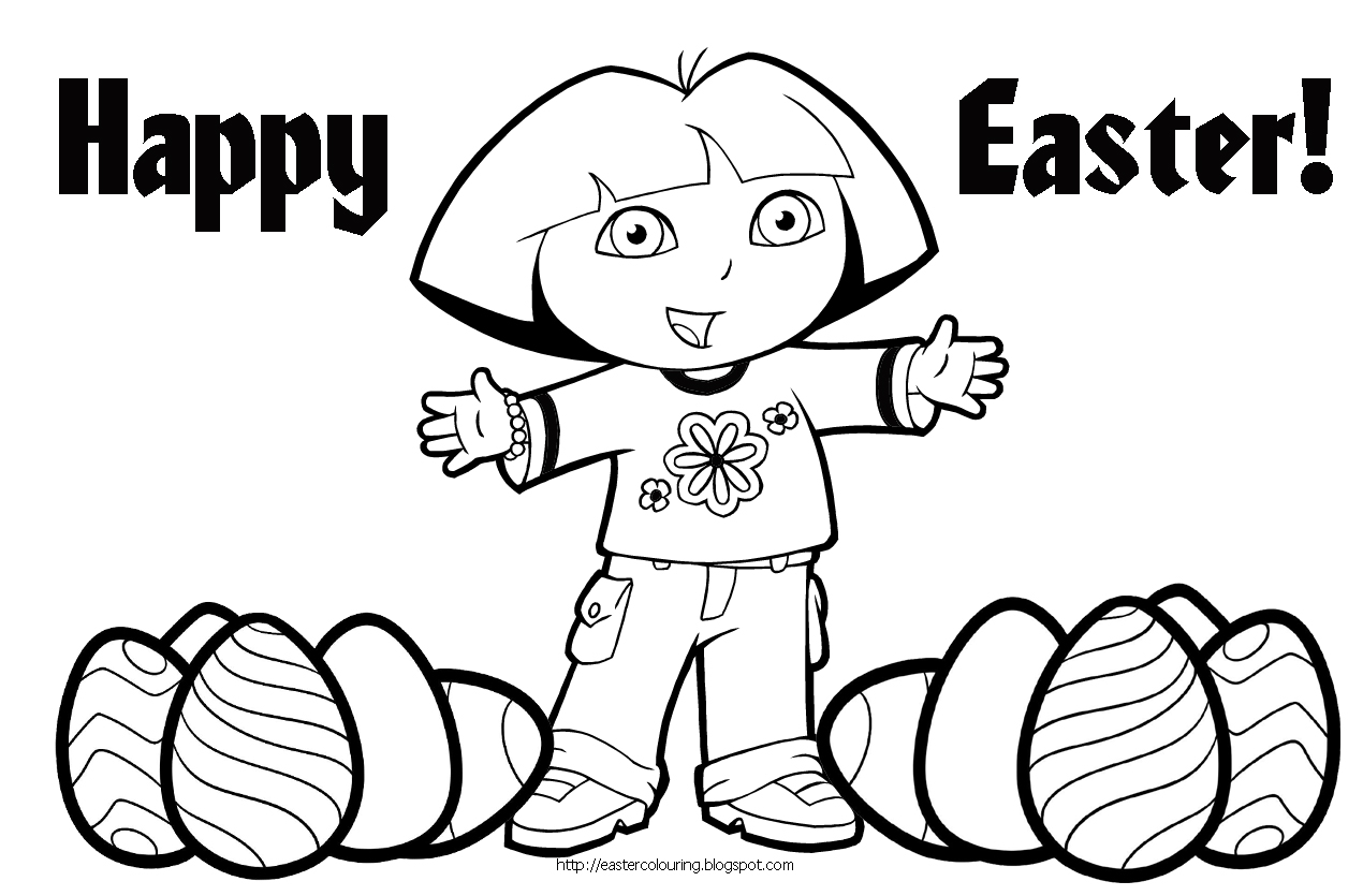 happy spring coloring pages - happy easter coloring pages only coloring pages