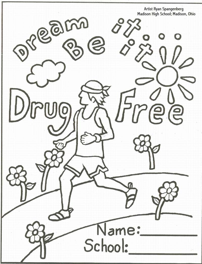 Just Say No Coloring Pages Pinterest Just Say No Coloring Pages No