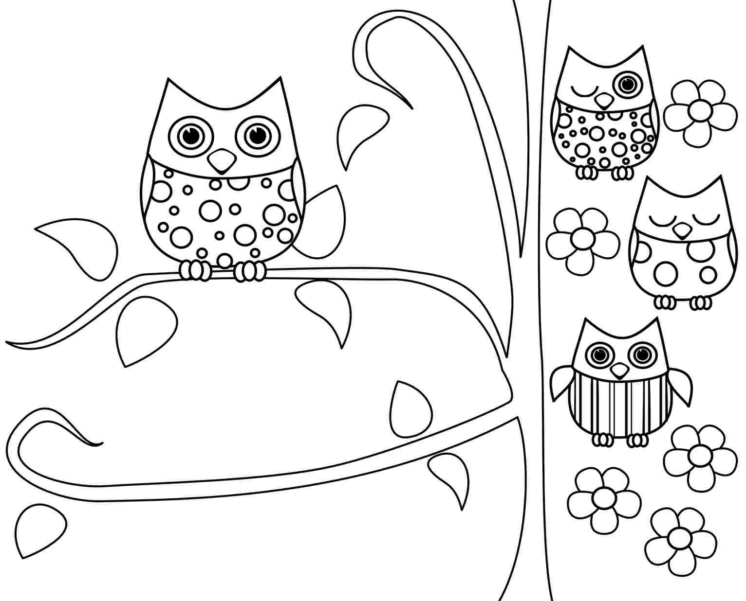 owl coloring pages printable free 01