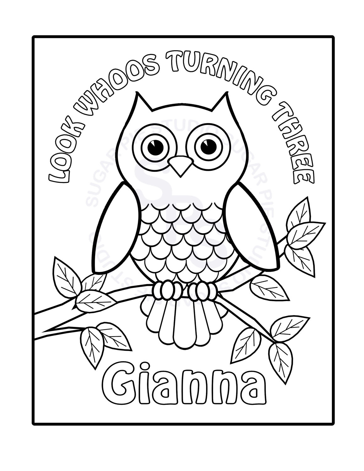 owl coloring pages printable free Only Coloring Pages