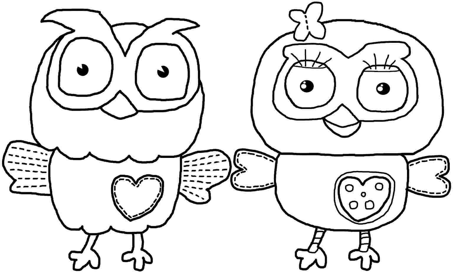 owl coloring pages printable free