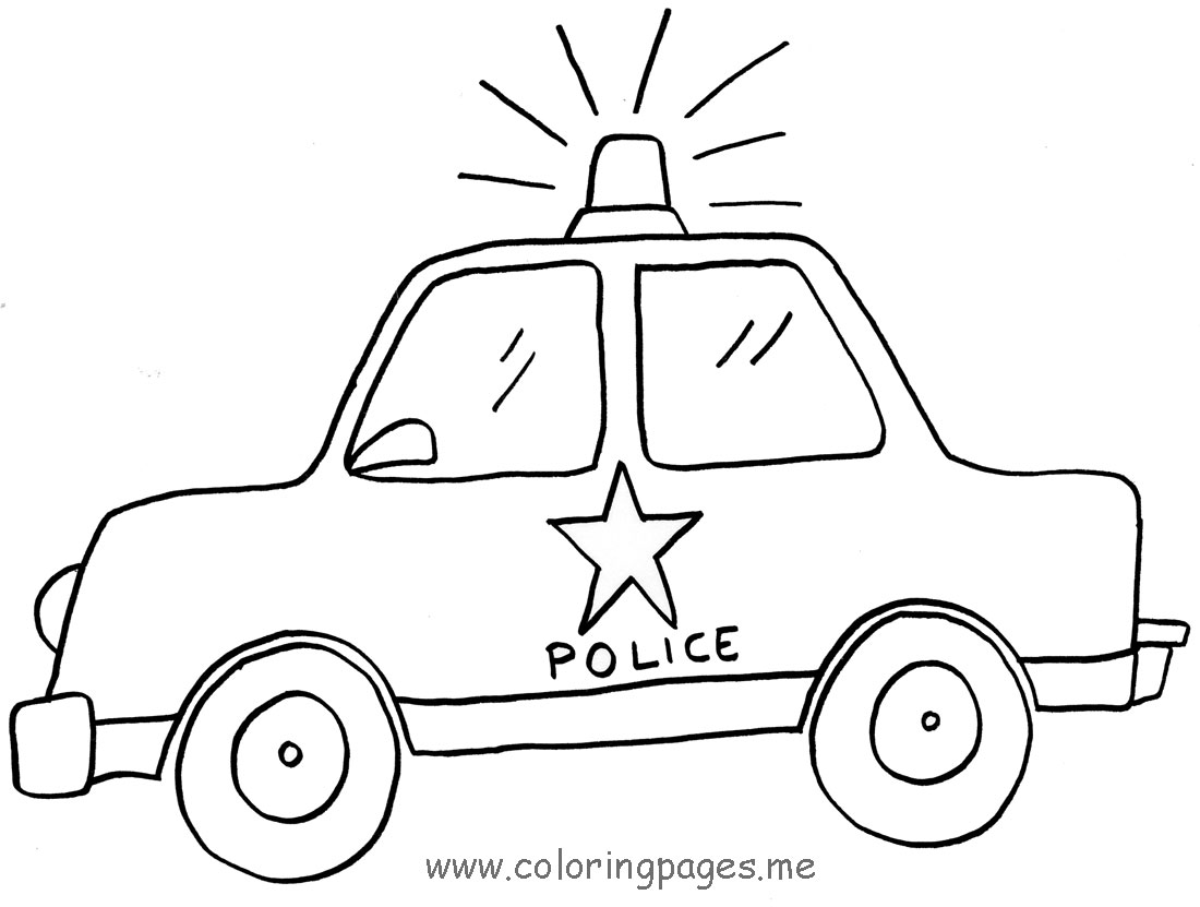 Police Car Coloring Template additionally Coloriage Policiers Pendant ...