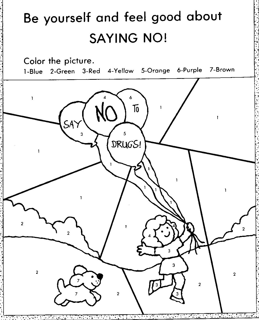 Red Ribbon Week Coloring Pages Free 01